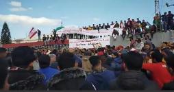 خلال الإحتجاجات المطالبة برحيل اليونسي  : عشرات الموقوفين ..وإصابات في صفوف الأمنيين