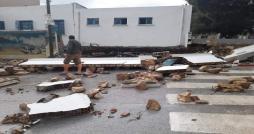 بسبب غزارة الأمطار : انهيار سور مدرسة  إعدادية  بمدينة رفراف وأضرار كبيرة بالطرقات  ( + صور )