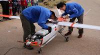 بالصور : عرض طيران تجريبي لطائرة بدون طيار في محيط القطب التكنولوجي بصفاقس وتدشين مشروع Sfax Aerospace Valley