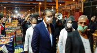 صور : المعتمد الأول لولاية بن عروس في زيارة تفقدية الى سوق الجملة بئر القصعة