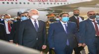 صور وصول رئيس الجمهورية إلى ليبيا
