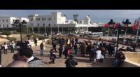 وقفة احتجاجية للأطباء أمام قصرالحكومة بالقصبة (فيديو)